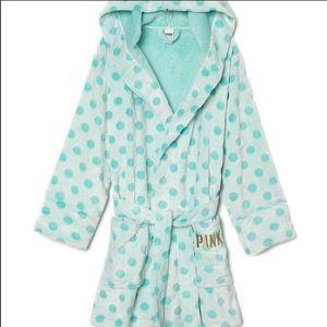 PINK Victoria's Secret polka dot robe